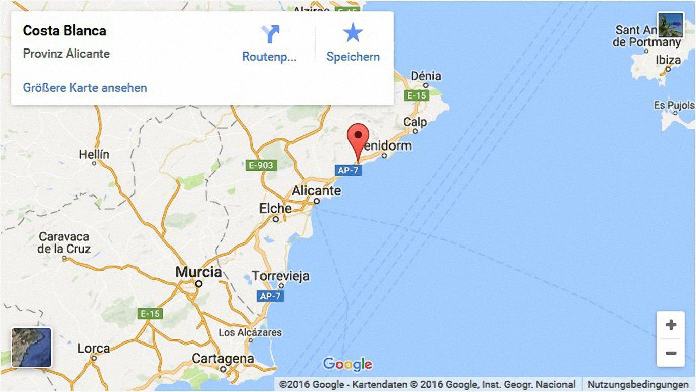 Map South Of Spain.Costa Blanca News Online Magazin For South Spain
